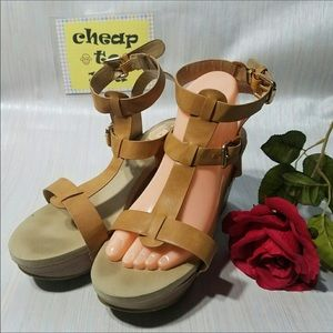 Shoes - DESIRE BY JACOBIES WEDGES. SIZE 9